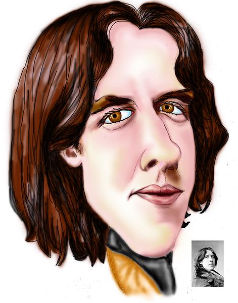 Caricatura de Oscar Wilde